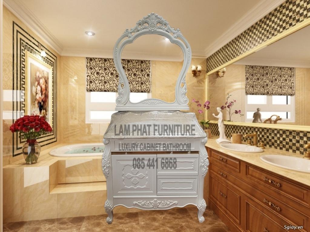 Bán tủ chậu lavabo tân cổ điển, hiện đại, tủ chậu mặt đá phòng tắm