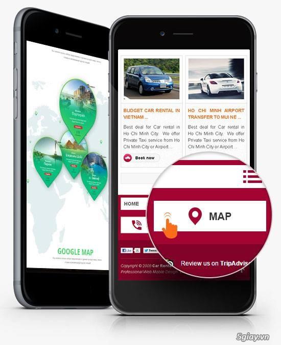 Nhận Thiết Kế Website trên điện thoại cho doanh nghiệp