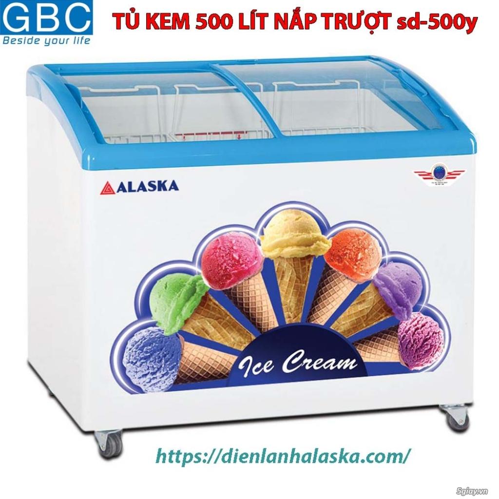 TỦ kem Alaska 500 lít nắp trượt sd-500y - 1