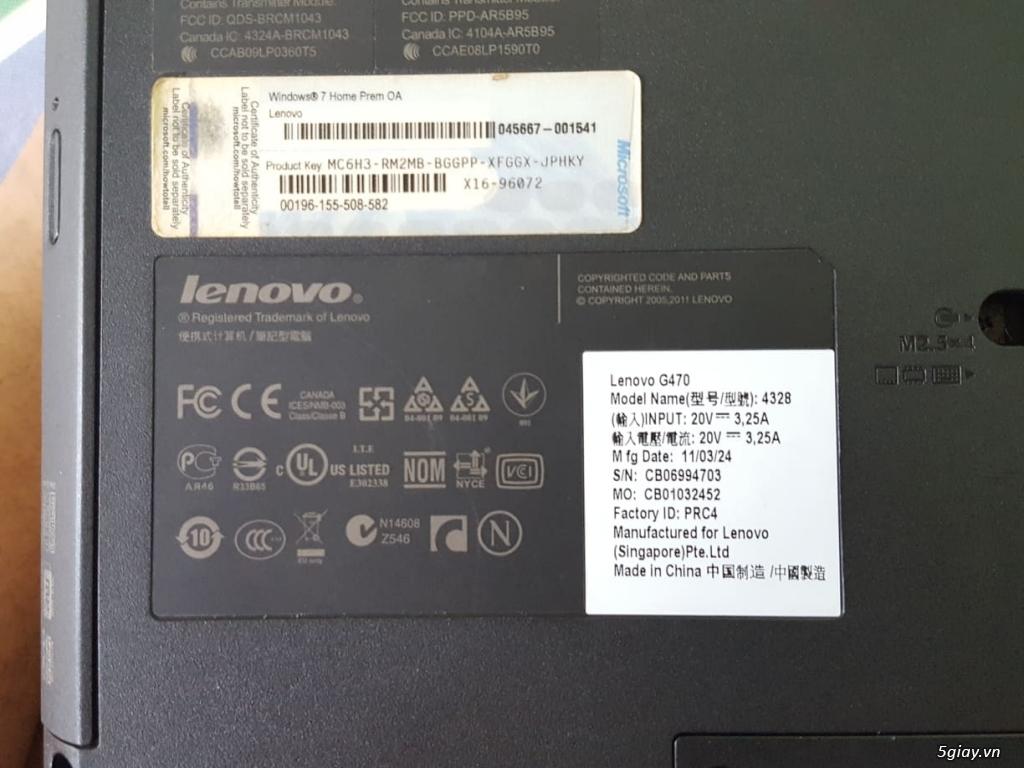 Thanh lý Laptop LENOVO G470- Quận 1- TPHCM