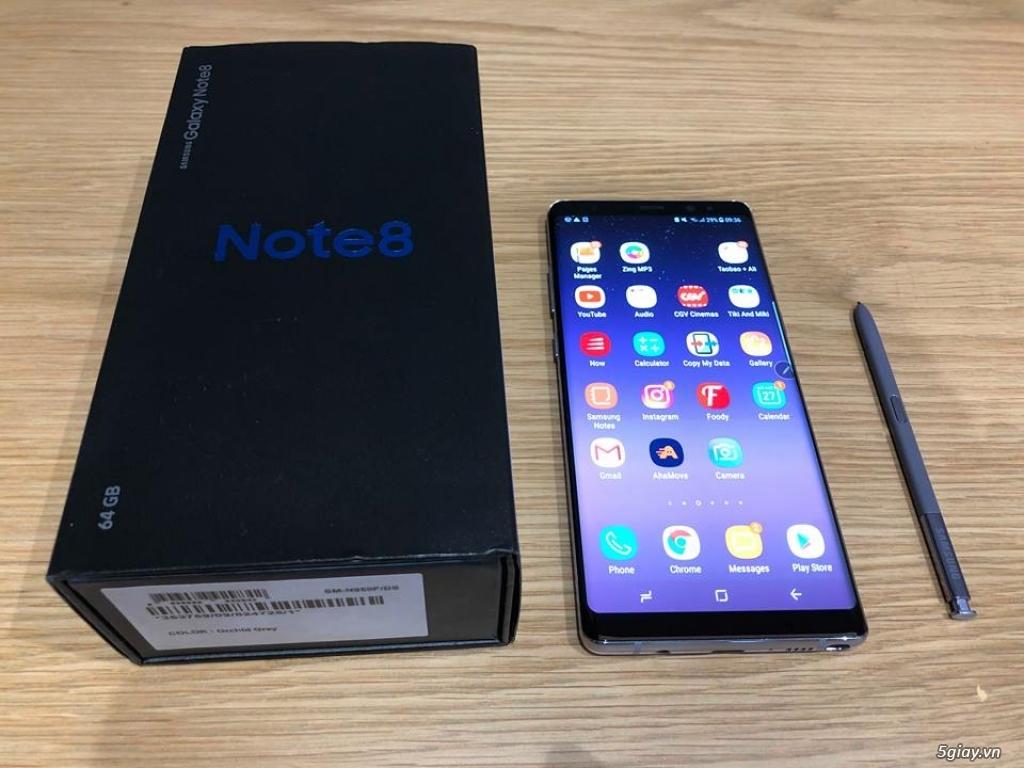 Bán SamSung Note 8 -64gb -99.9%( hàng mới nữ dùng dư bán) 11.5tr