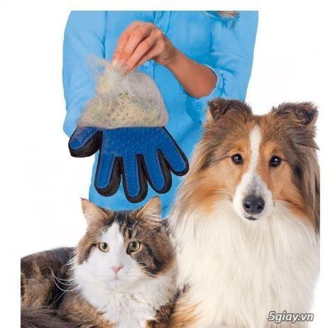 Găng Tay Lấy Lông Rụng Chó Mèo, Găng Tay Tắm Và Chải Lông True Touch - 2