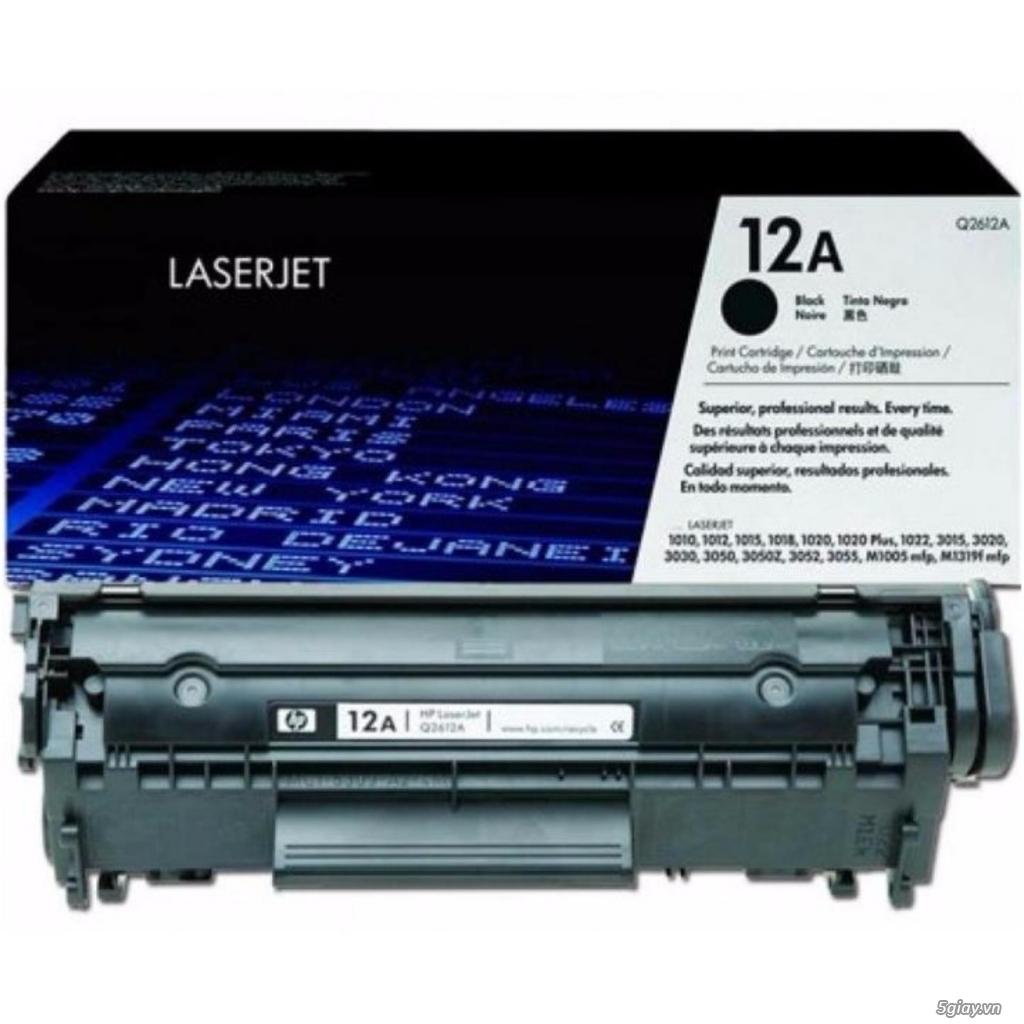 Hộp mực in Q2612A năng suất cao dùng cho máy in HP, Canon - 1