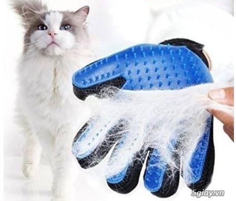 Găng Tay Lấy Lông Rụng Chó Mèo, Găng Tay Tắm Và Chải Lông True Touch