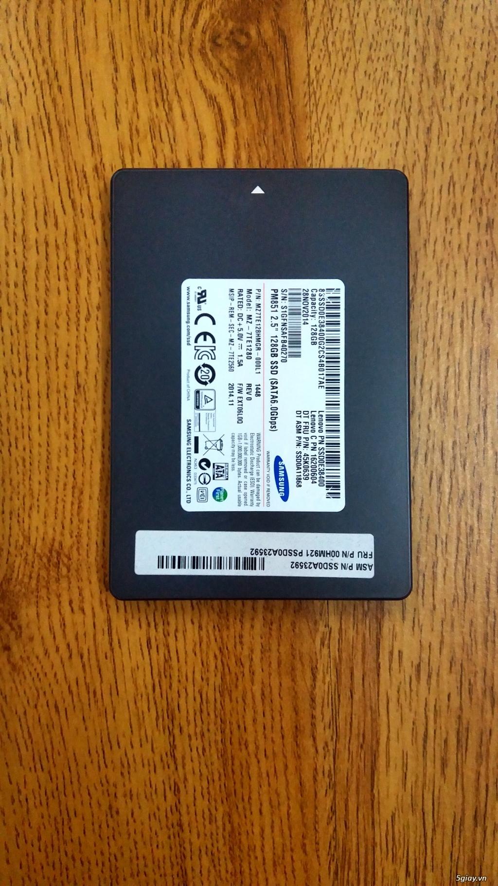 Ssd Samsung 128gb zin chính hãng, sức khỏe 100% nhập từ Mỹ.