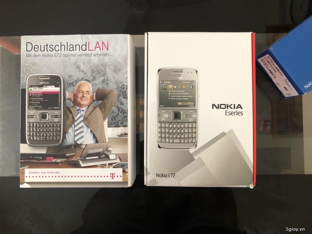 Siêu phẩm : Nokia E72 Grey T- Mobile Germany new nguyên hộp chưa sd - 1