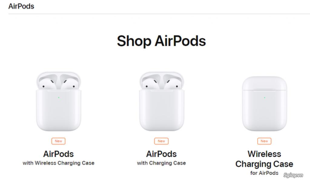 Airpods 1 giá 4Tr1| Airpods 2 giá 5Tr6| Airpods 2 Wireless giá 6Tr5 ZA - 4