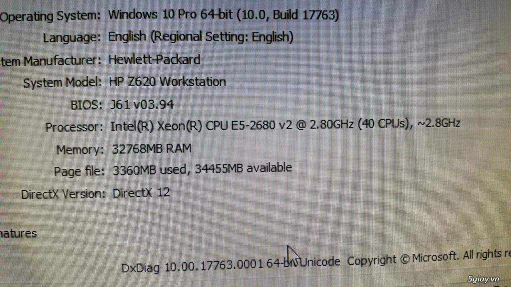 HP z620: 02cpu E5-2680v2 40cpu, 32gb, ssd240, K620 + Tesla K20