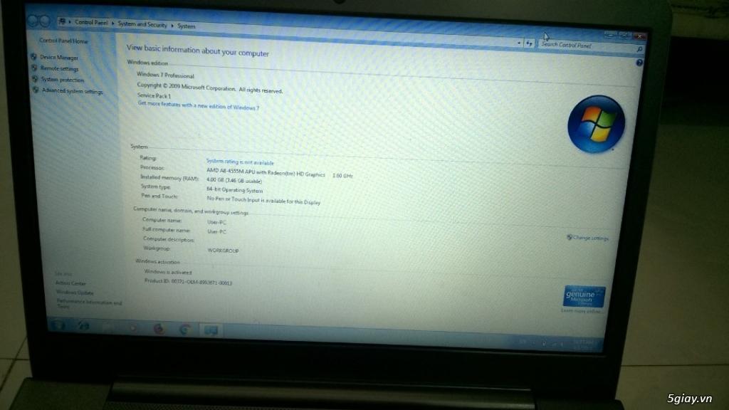 Laptop Samsung 535U cần bán - 3