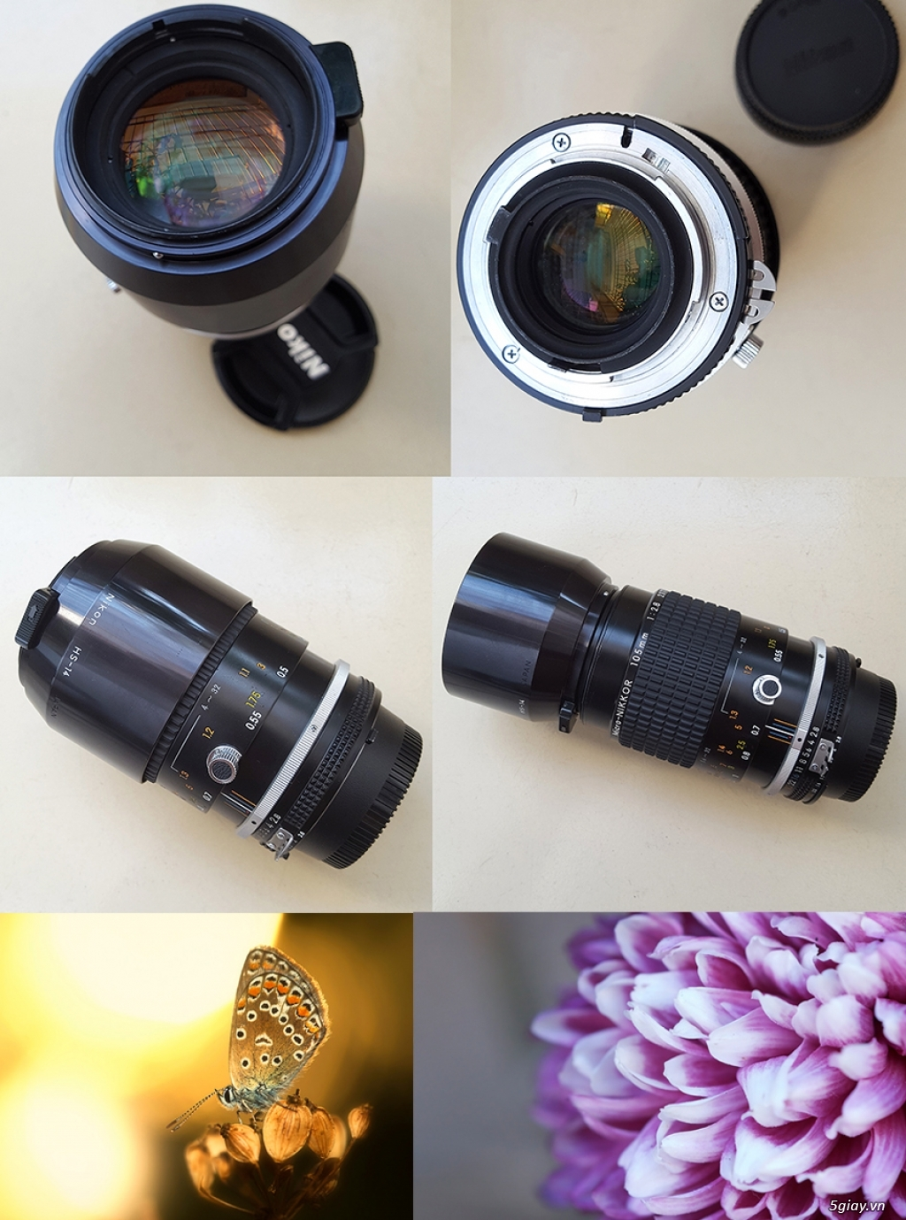 HCM-Bán lens Nikon 105/2.8 Macro AIS mới đẹp long lanh