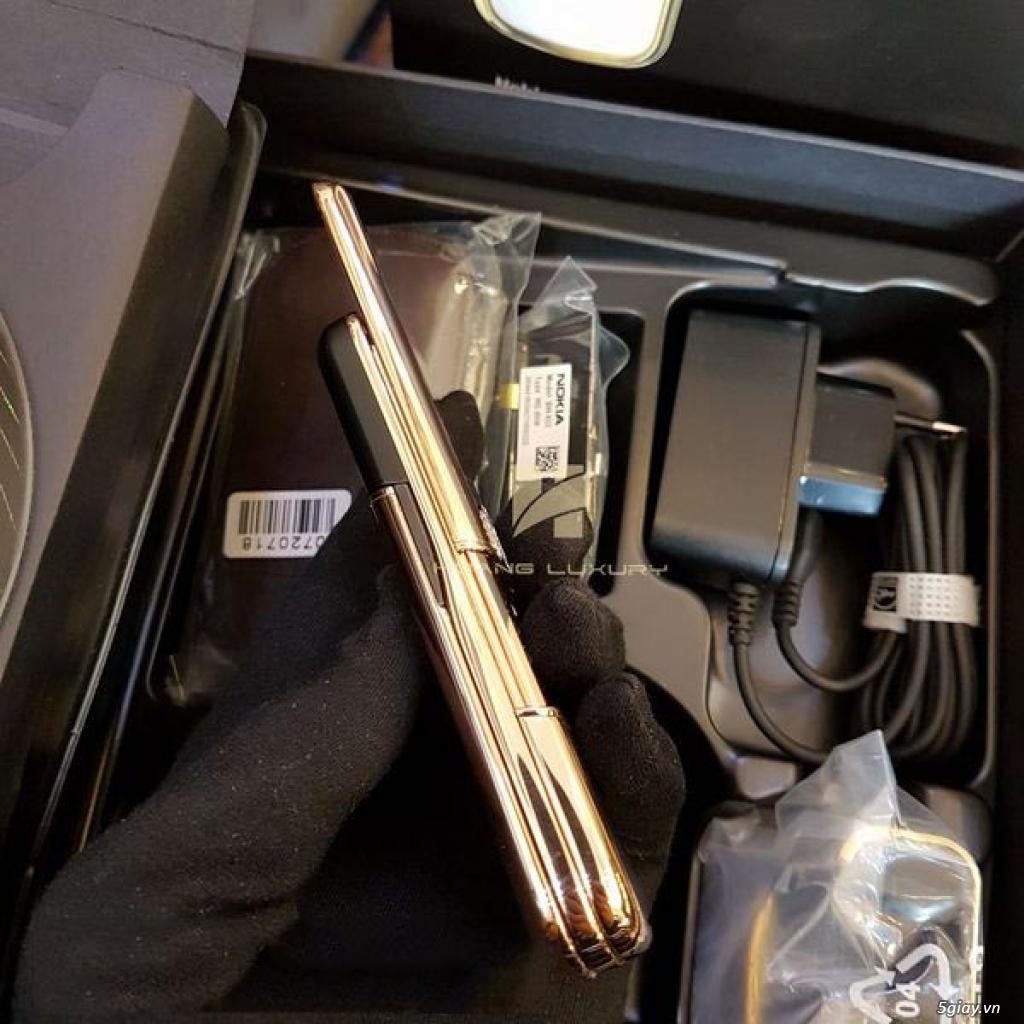 HoangLuxury - Điện thoại Nokia 8800 vàng hồng da đen phím đính full đá - 2