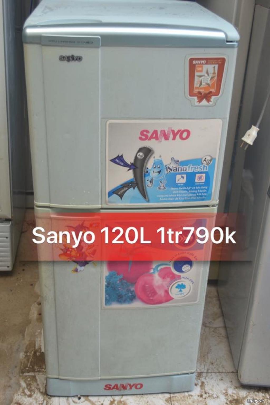 Thanh lý tủ lạnh Sanyo 120L k đông tuyết new 85% zin 100%