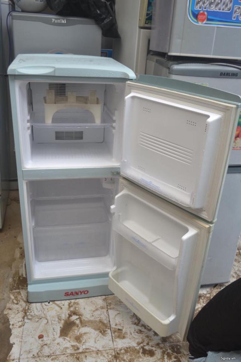 Thanh lý tủ lạnh Sanyo 120L k đông tuyết new 85% zin 100% - 1