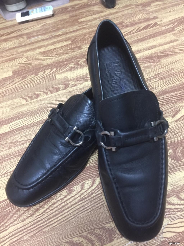 Giày lười nam da bê S.Ferragamo chính hãng 100% size 40-41vn. - 1