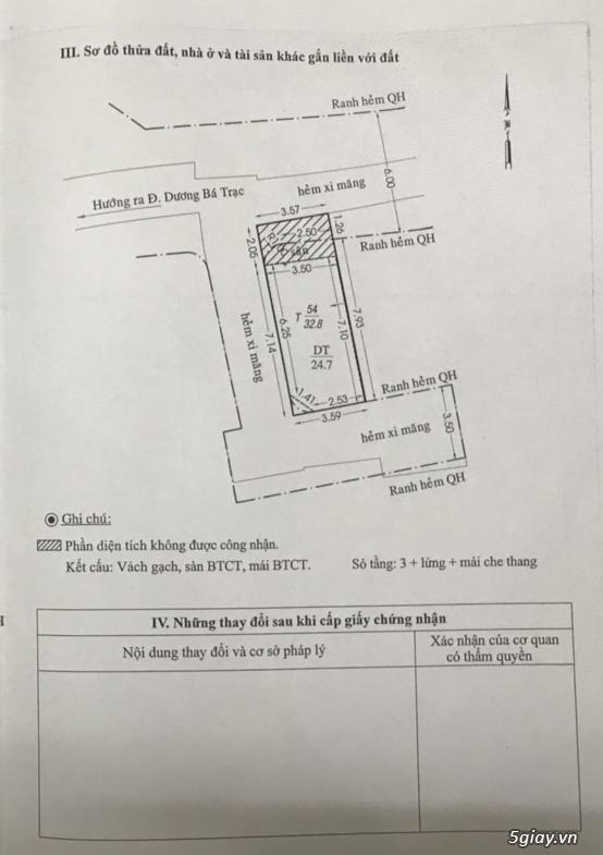 Bán căn nhà 73/12A Dương Bá Trạc, P1, Quận 8 - 25m2 - 4.7 tỷ không tl - 5