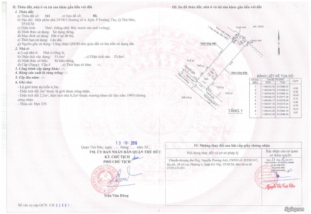 Chính Chủ Bán Đất - P Trường Thọ - Thủ Đức - Cách Metro Bình Thái 500m - 2