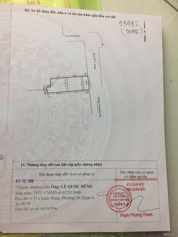 Cần bán nhà Hưng Phú Quận 8