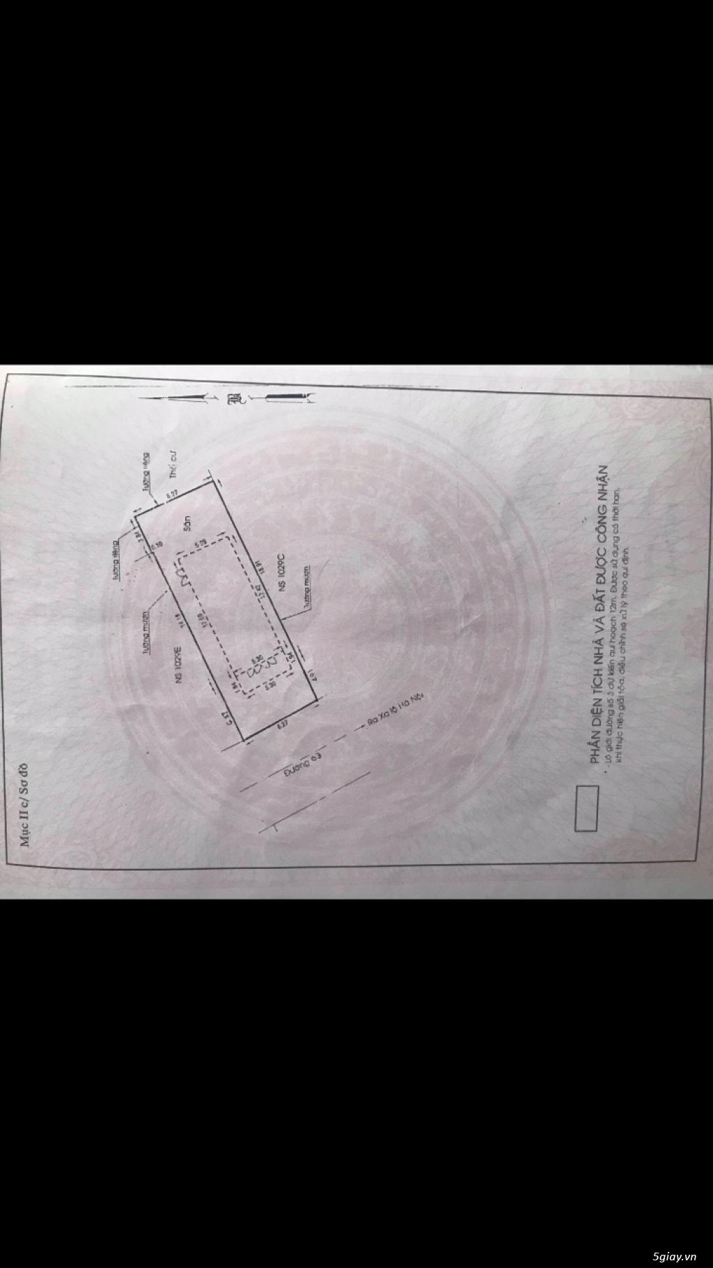 Đất 6x17 mặt tiền Đỗ Quang Thảo Điền Quận 2