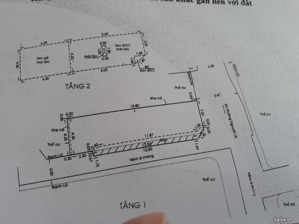 Nhà 2 mặt hẻm, 1trệt 1 lầu 68,5m2 - 4
