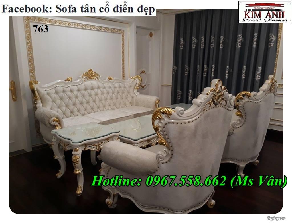 Ghế sofa tân cổ điển - bộ bàn ghế phòng khách gỗ quý đẳng cấp châu âu - 4