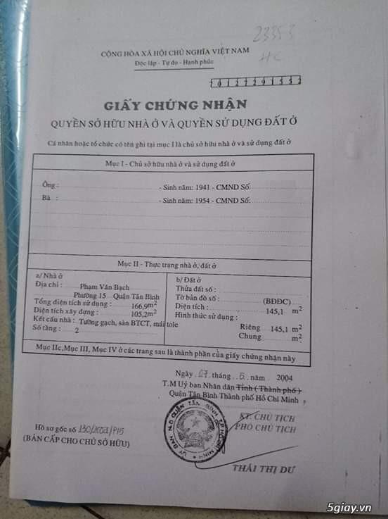 Bán nhà mặt tiền chợ Phạm Văn Bạch tiện kinh doanh, Q.Tân Bình. - 1
