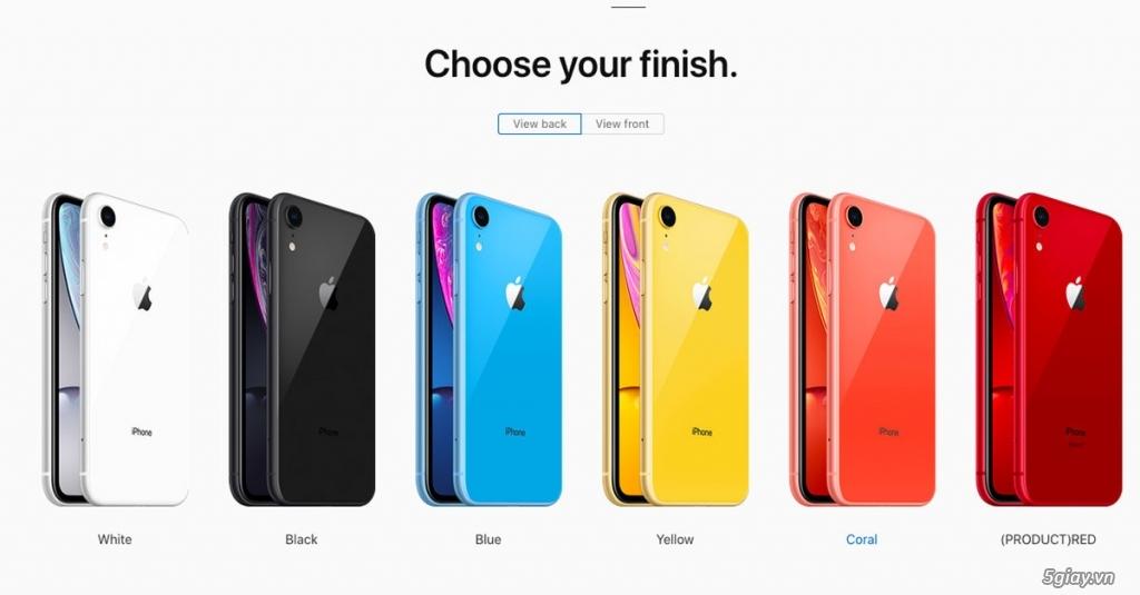iPhone XR 128GB FullBox Quốc Tế LL New 100% chưa Acti chuẩn 12T APPLE - 1