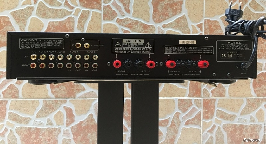 Ampli Rotel RA-971MkII Anh Quốc 8 sò - công suất 300W - 2