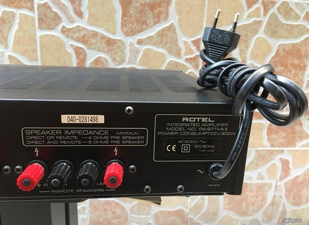 Ampli Rotel RA-971MkII Anh Quốc 8 sò - công suất 300W - 3