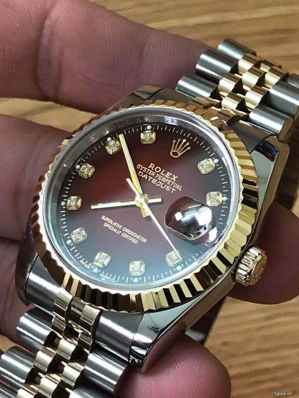 Chuyên Rolex bọc vàng 18k,độ máy chính hãng,kim cương - 44