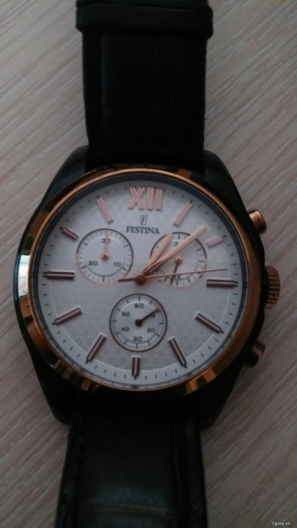 Cần bán đồng hồ Tây ban Nha Festina F16861,chính hãng - 3