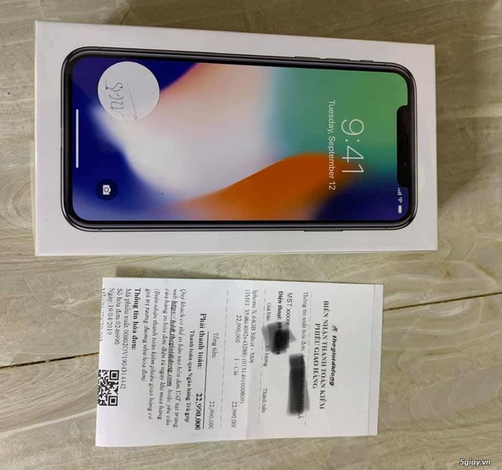 Iphone X 64GB Silver (Nguyên Seal chưa active) tại TGDĐ