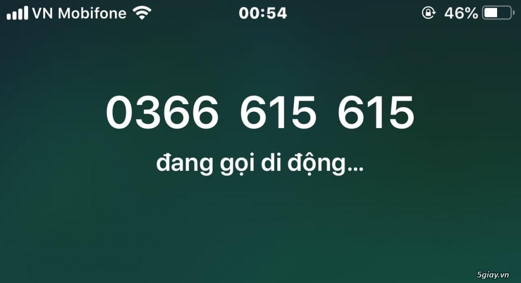 Bán sim 0366.615  615