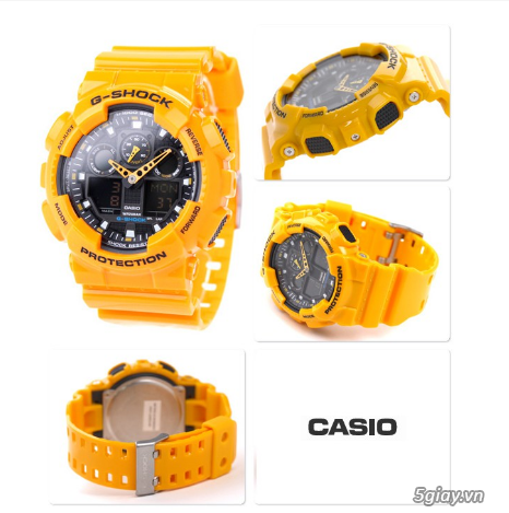 Đồng hồ nam dây nhựa G-SHOCK GA-100A-9ADR chính hãng - 1