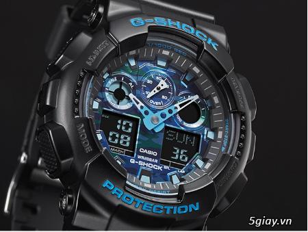 Đồng hồ nam dây nhựa g-shock GA-100CB-1ADR chính hãng - 2