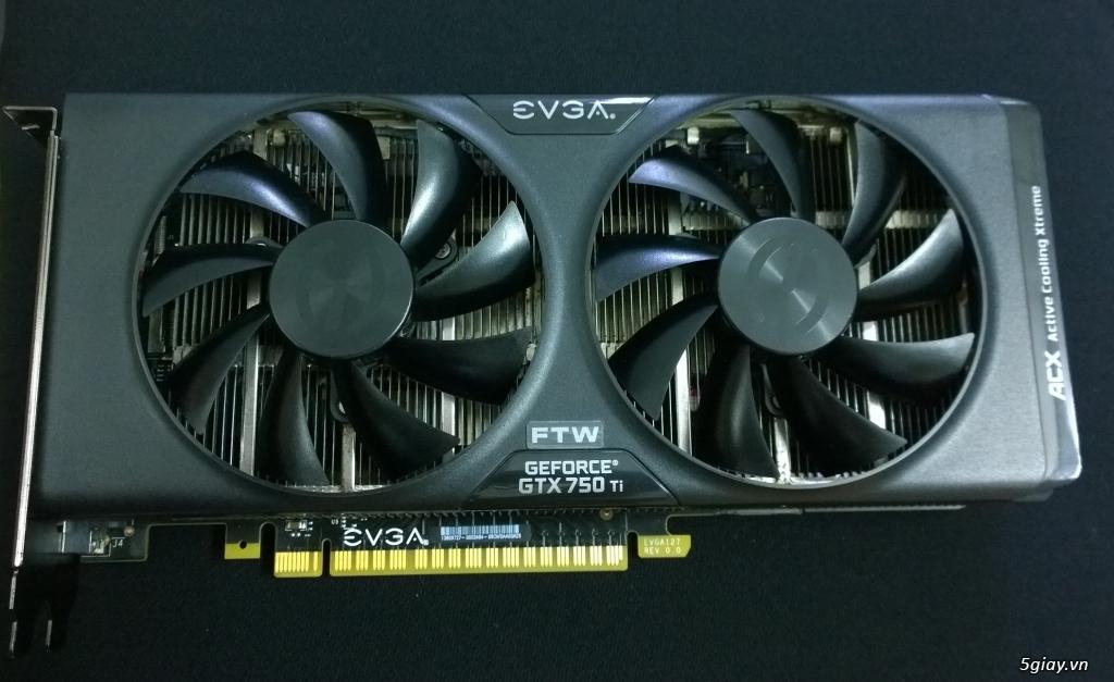[SG] EVGA GeForce GTX 750 Ti FTW ACX Cooling (hàng dùng cá nhân) - 1