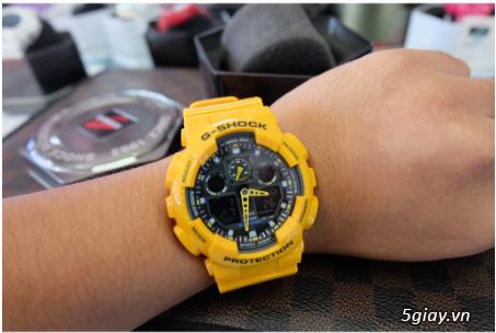 Đồng hồ nam dây nhựa G-SHOCK GA-100A-9ADR chính hãng - 2
