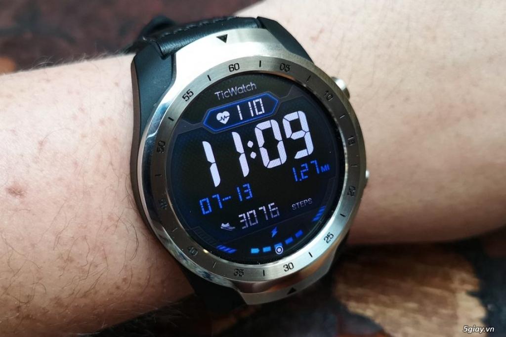 smart watch Ticwatch pro fullbox 99.99% cực chất đi nhanh!! - 1