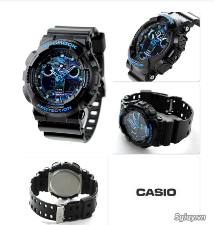 Đồng hồ nam dây nhựa g-shock GA-100CB-1ADR chính hãng - 3