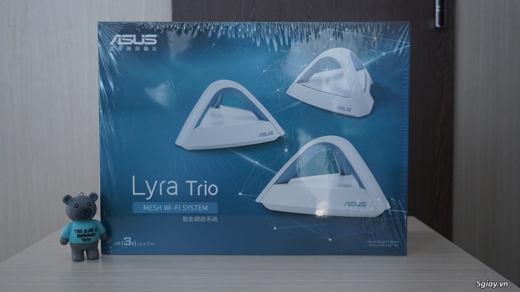 ASUS Lyra Trio (3 Pack) Home Mesh WiFi System AC1750, Dual-Band, AiPro