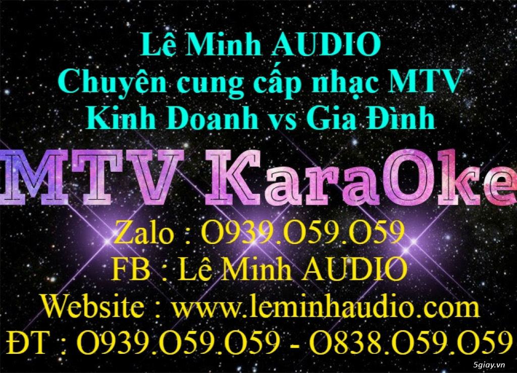 Dịch vụ chép nhạc KaraOke MTV - 9