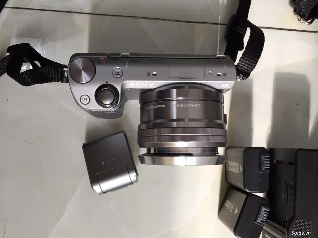 Sony Nex5R chụp 16mpx, lcd lật cảm ứng, wifi, lens 16-50 PZ - 2