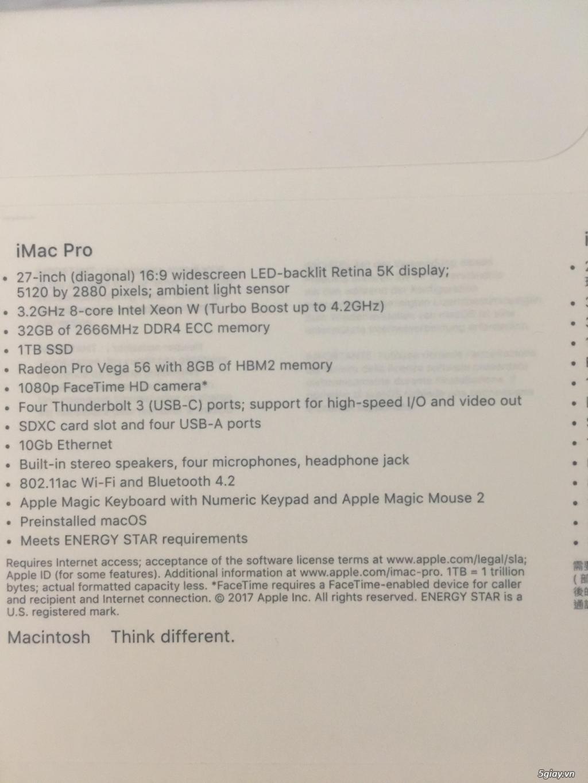 bán iMac Pro 2018 112tr