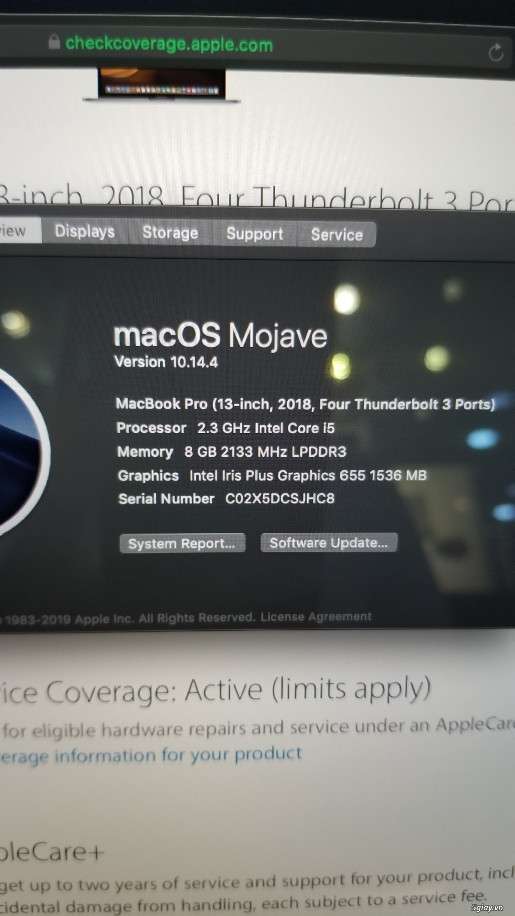 [Huy Hoàng Mobile] MacBook Pro 13inch 2018 - MR9Q2 97% (có fix mạnh) - 2