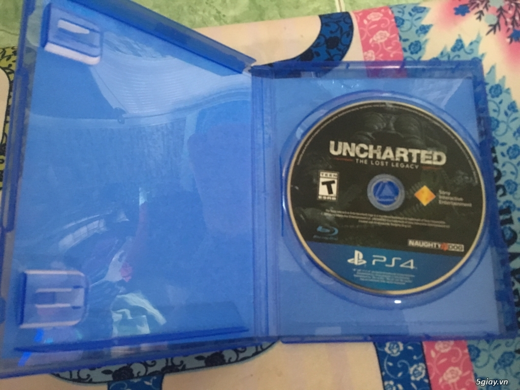 Đĩa game ps4 Uncharted The Lost Legacy + Spider Man - 1