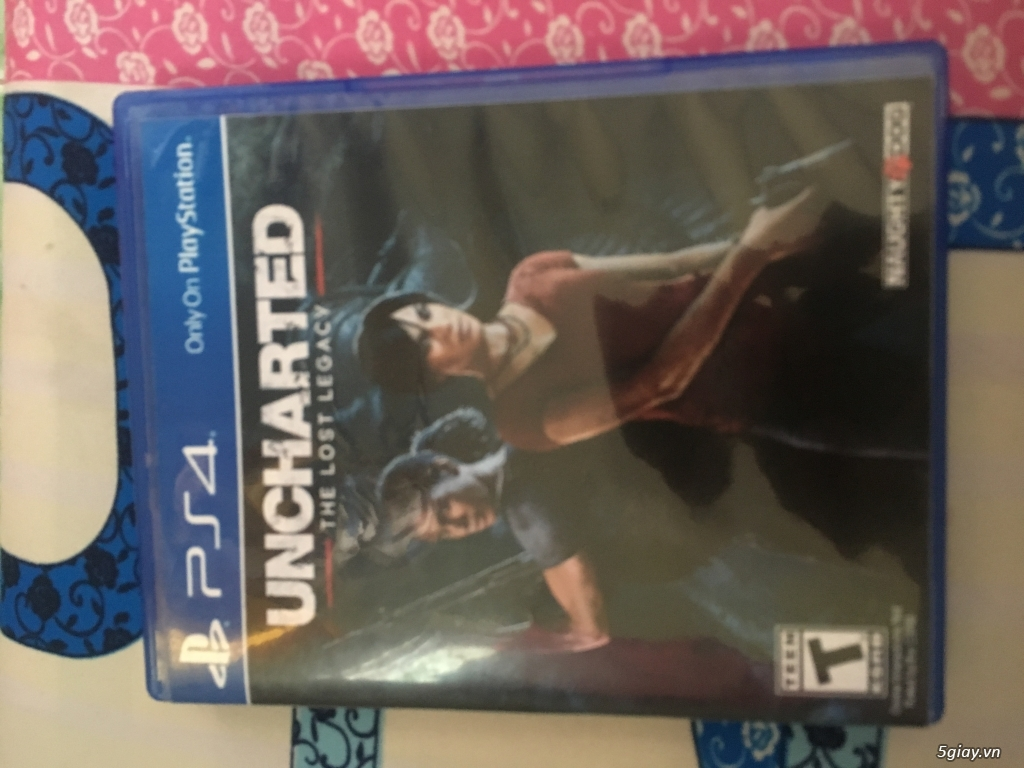 Đĩa game ps4 Uncharted The Lost Legacy + Spider Man