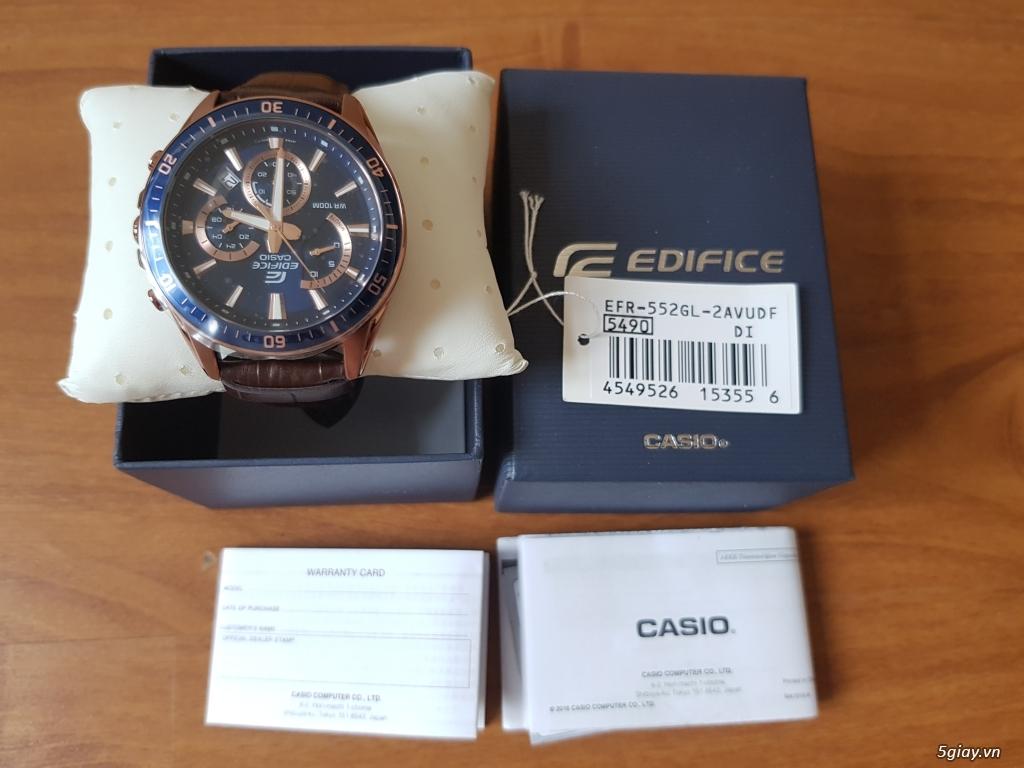 Đồng hồ Nam - CASIO Edifice EFR-552GL-2AV- New 100% Fullbox, giá rẻ