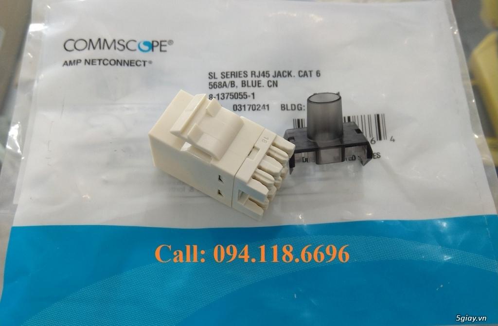 Nhân mạng Modul Jack Cat6 Commscope mã 1375055-1, màu trắng chân đồng - 7