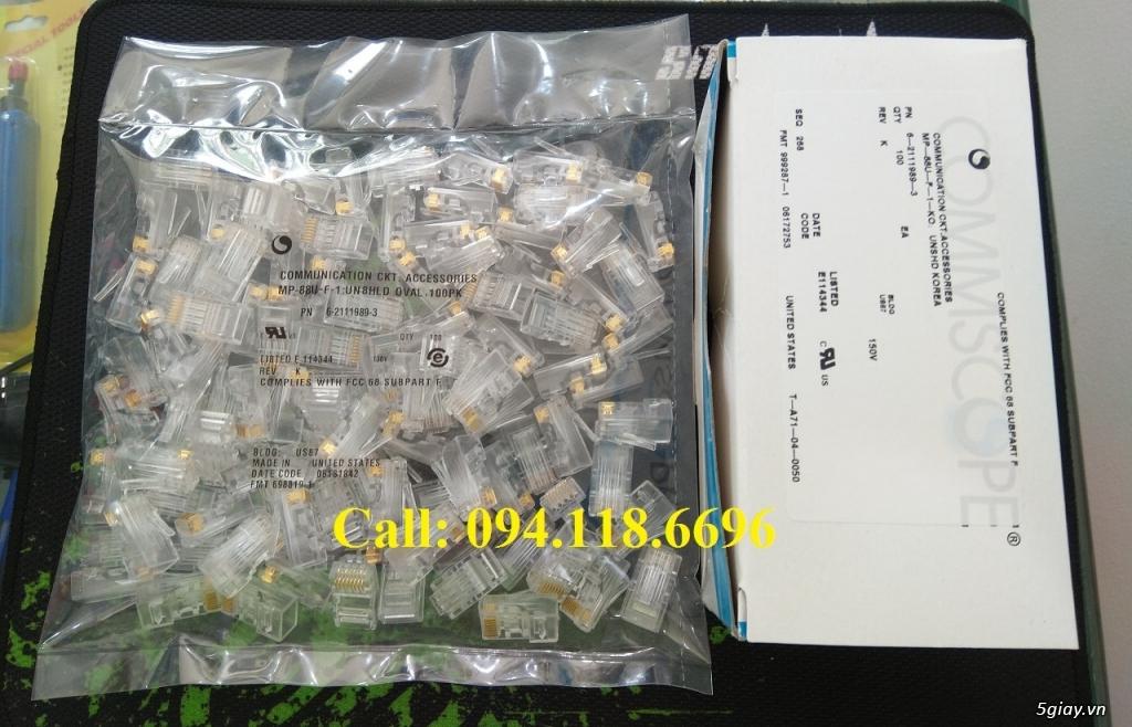 Đầu bấm hạt mạng RJ45 Cat6 Commscope mã 5-554720-3 có sẵn hàng - 4