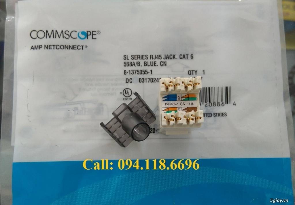 Nhân mạng Modul Jack Cat6 Commscope mã 1375055-1, màu trắng chân đồng - 6