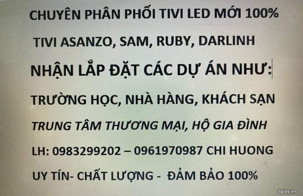 Ngày 1/5/201Cửa Hàng bán TiVi 469 Nhật Tảo dời về 169 nguyễn Kim
